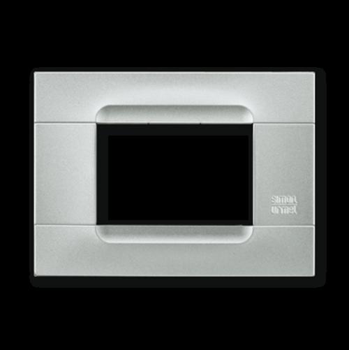 SIMON URMET - 10803.AR Silver Technopolymer Metal Kadra тримодулна рамка