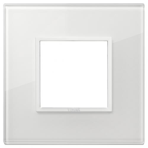 VIMAR - 21642.87 - Двумодулна рамка crystal total white diamond