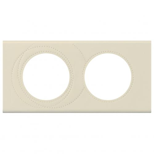 LEGRAND - Двойна рамка Celiane 69432 перлена кожа