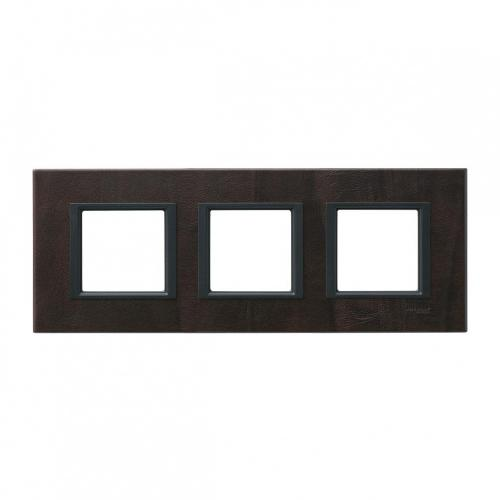 SCHNEIDER ELECTRIC - MGU68.006.7P2 декоративна рамка тройна кожа трюфел Unica Class