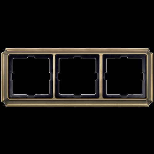 SCHNEIDER ELECTRIC - MTN483343 рамка тройна месинг Antique Merten