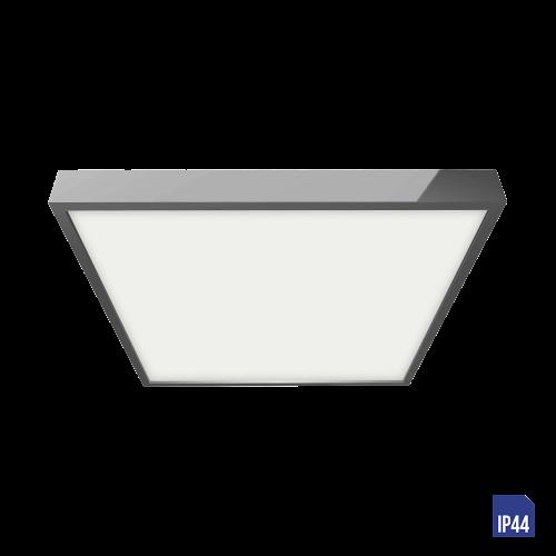 LUXERA - LED панел квадрат 18W влагозащитен IP44 външен монтаж  LENYS  49030 хром