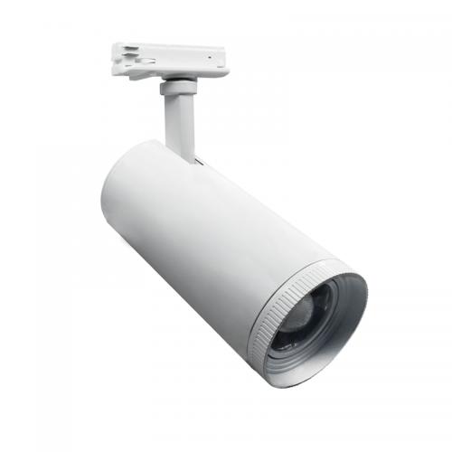 ACA LIGHTING - Релсов прожектор LED COB 30W 3000K 15°- 55° за монофазна шина бял AIMY3030W2