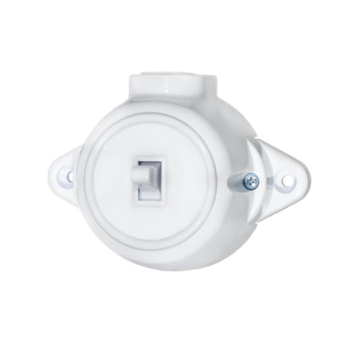 ATRA -  Еднополюсен ключ 10A открит монтаж IP21 бял 5121