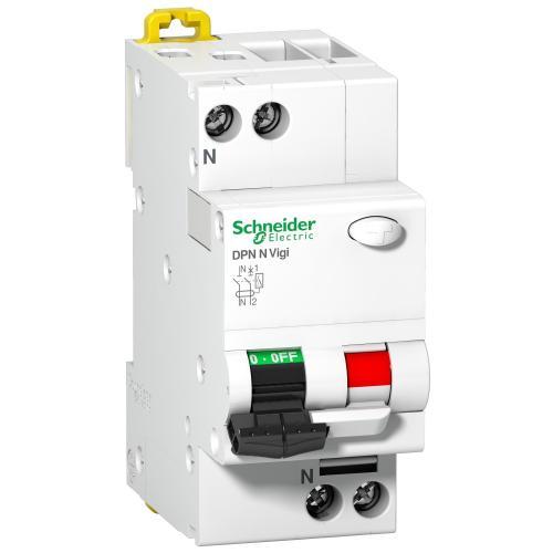 SCHNEIDER ELECTRIC - ДТЗ комбинирана Acti 9 DPN N Vigi 1P+N 10A крива C 30mA тип AC 6kA 2 мод. SE A9N19663