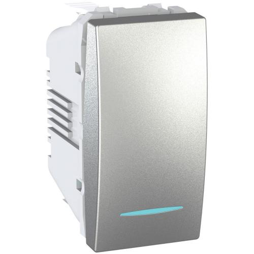 SCHNEIDER ELECTRIC - MGU3.101.30N Eднополюсен ключ сх.1 едномодолен със синя глим-лампа алуминий