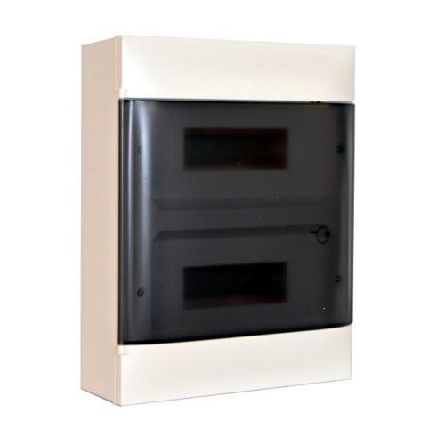 LEGRAND - Табло за открит монтаж 2x12 мод. Practibox S с прозрачна врата и Н и РЕ клеми 135212