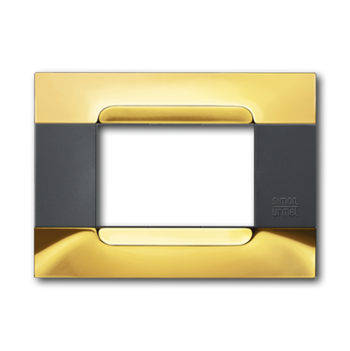 SIMON URMET - 10803.96 Glossy Golden Polychrome Gloss Metal Kadra