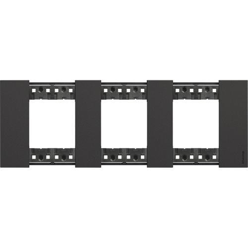 BTICINO - Рамка 3x2 мод. немски стандарт цвят Черно Living Now Bticino KA4802M3KG