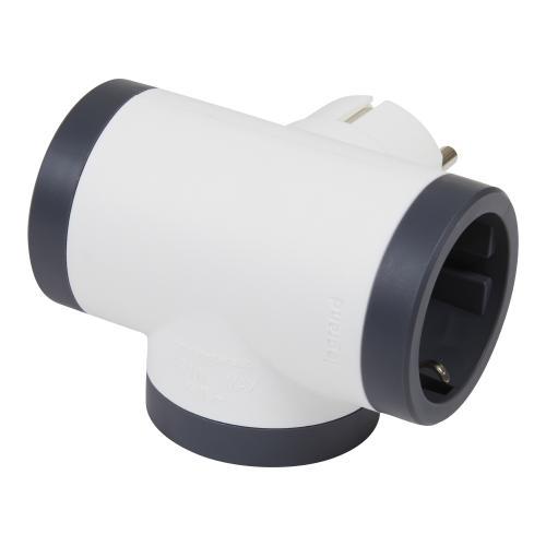 LEGRAND - 694520 Адаптер за контакт 3х Шуко Т-образен бял Legrand