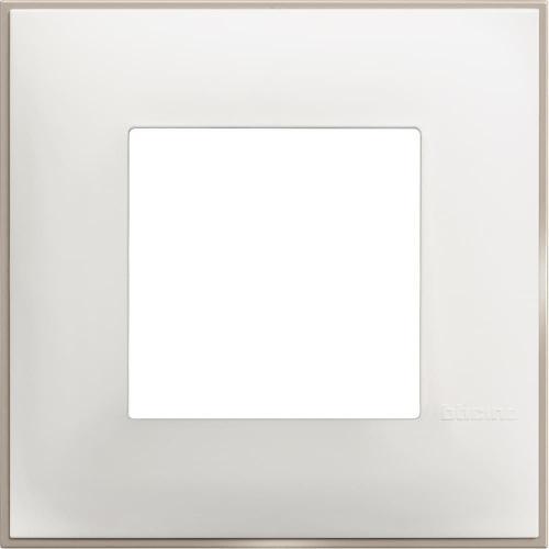 BTICINO - R4802WS Рамка 2М немски стандарт бял сатен Classia