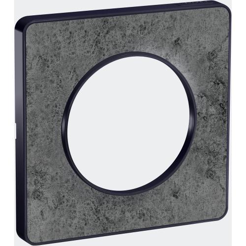 SCHNEIDER ELECTRIC - S540802U Odace Touch aluminium декоративна рамка единична  морски камък, с външен кант антрацит