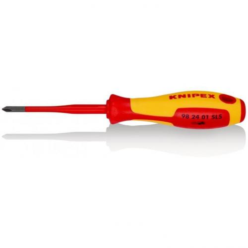 KNIPEX - Screwdriver Slim VDE 1000V PH1 х 80мм 982401SLS