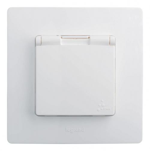 LEGRAND - 764547 Контакт шуко 16А IP44 бял