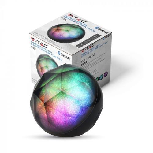 V-TAC - 3W LED Настолна Лампа Mini Bluetooth Колона RGB AUX & TF  слот SKU: 7722 VT-6211