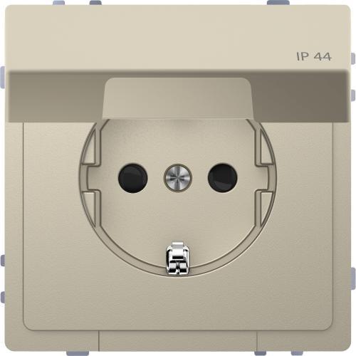 SCHNEIDER ELECTRIC - MTN2314-6033 Механизъм контакт шуко с лицев панел IP44 сахара System Design