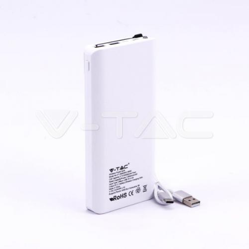 V-TAC - 20000 mAh Външна Батерия Безжично Зареждане Бяла SKU: 8860 VT-3058