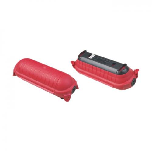 V-TAC - Влагозащитена Кутия За Щепсели Удължител Червена IP44 SKU: 8819 VT-1124-3