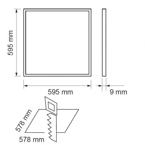 ULTRALUX - LP220664042 LED панел 600х600 40W, 4200K, 220V, неутрална светлина, SMD 4014