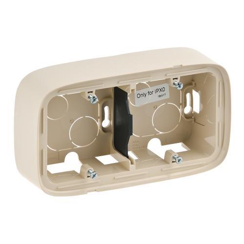 LEGRAND - 755562 Двойна конзола за открит монтаж  Valena Allure алуминий
