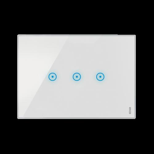SIMON URMET - 14033.BN Тримодулна TOUCH рамка с три команди White Snow