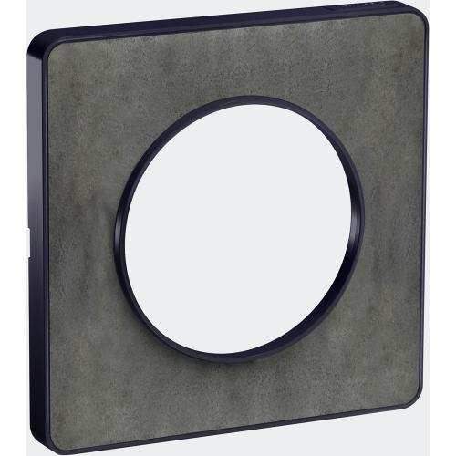 SCHNEIDER ELECTRIC - S540802V Odace Touch aluminium декоративна рамка единична камък, с външен кант антрацит
