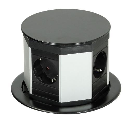 BACHMANN - 904.000 LIFT модул 4x шуко 16А цвят Black 0,5m