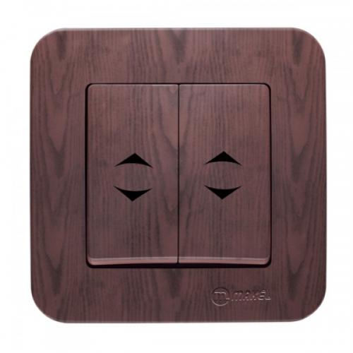 MAKEL - Double Cut Out And Two Way Switch Lilium Natural 56026