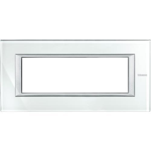 BTICINO - HA4806VSW Рамка 6М Whice стъкло правоъгълна Axolute