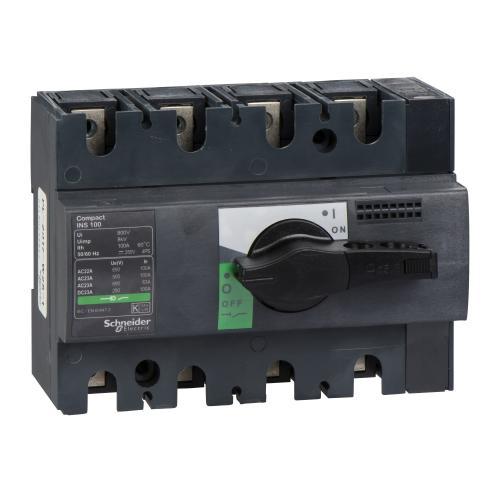 SCHNEIDER ELECTRIC - Товаров прекъсвач INS160 4P 160A с ръкохватка ComPact 28913