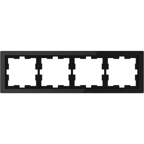 SCHNEIDER ELECTRIC - MTN4040-6503 рамка четворна стъклена черен оникс D-Life glass Merten