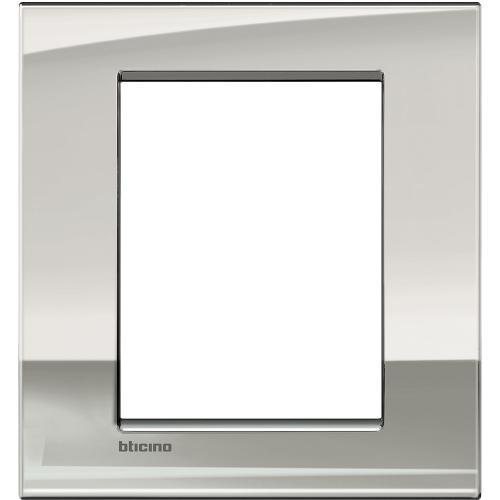BTICINO - LNC4826PL Рамка 3+3 модула Palladium метална Livinglight AIR
