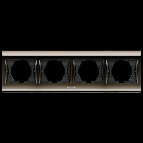 PANASONIC - Четворна рамка Черен хром WBTF0804-5UN