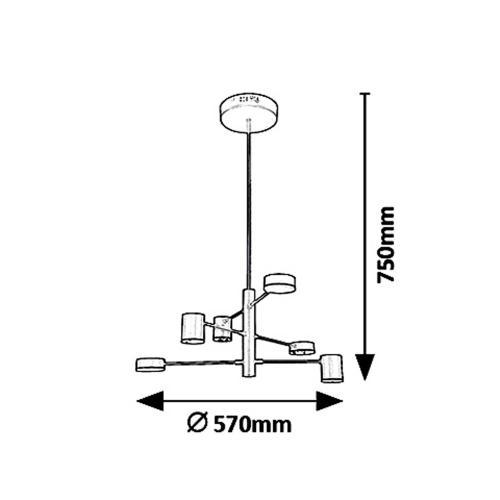 RABALUX - Пендел  SOLOMON 6355 LED 30W, 2400lm, 4000K