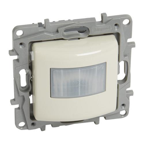 LEGRAND - 764683 Датчик за движение 3-100W LED 3-250VA всички трафове 3-250W 230V (НЕ изисква неутрала) NILOE крем