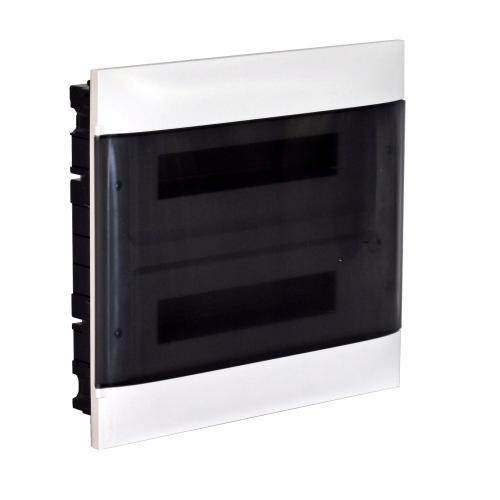 LEGRAND - Табло за скрит монтаж 2х18 мод. Practibox S с прозрачна врата и Н и РЕ клеми 137157