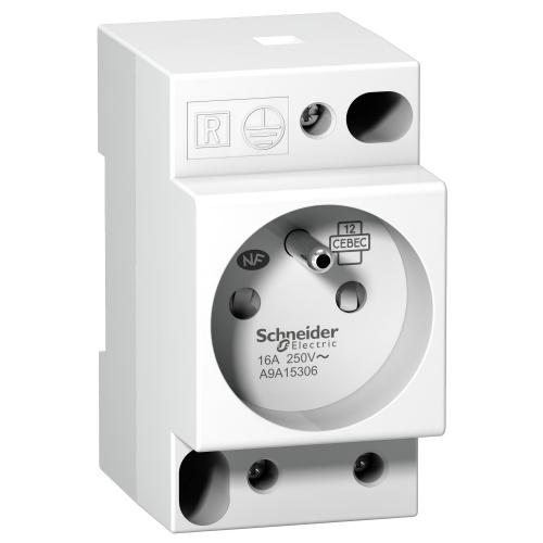 SCHNEIDER ELECTRIC - Модулен контакт за DIN шина Acti 9 iPC френски 16Α 2.5 мод. A9A15306