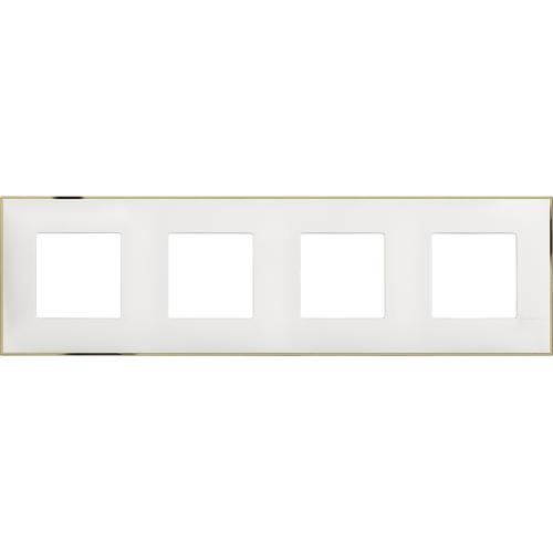 BTICINO - R4802M4WD cover plate - 2+2+2+2 horizontal/vertical installation modules - White gold