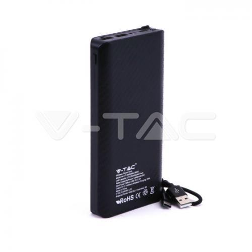 V-TAC - 20000 mAh Външна Батерия Безжично Зареждане Черна SKU: 8859 VT-3058