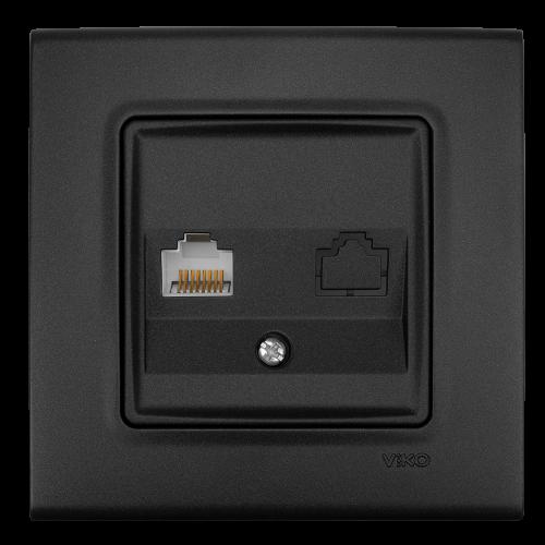 VIKO - Компютърна розетка CAT6  LINNERA LIFE черно 90404078-BG