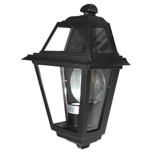 ACA LIGHTING - Градински аплик черен влагозащитен IP44 HI8011B