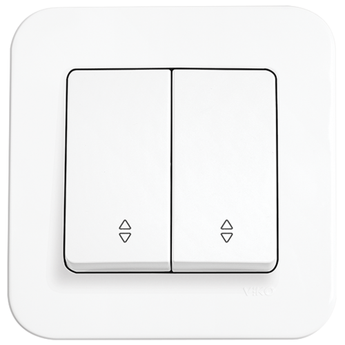 VIKO - 2-gang Two-way Switch 90420017 white Rollina