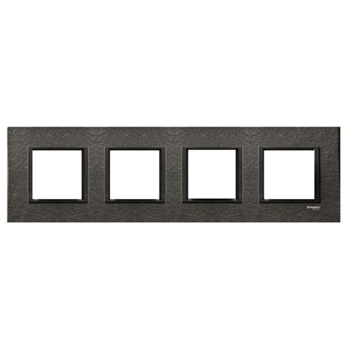 SCHNEIDER ELECTRIC - MGU68.008.7Z1 декоративна рамка четворна камък/въглен Unica Class