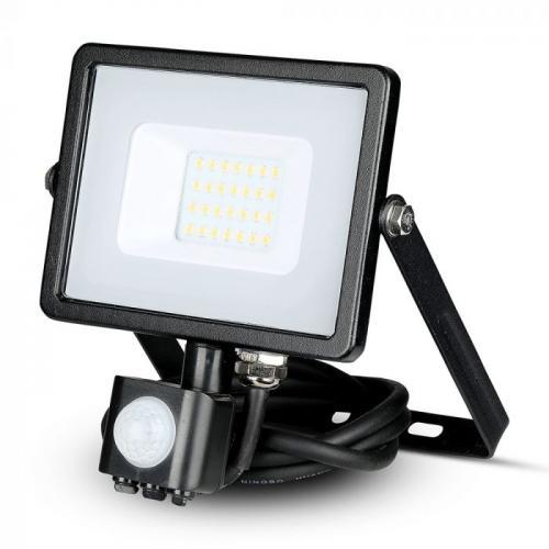 V-TAC PRO - 20W LED Прожектор Сензор SAMSUNG ЧИП Черно Тяло 3000К SKU: 451, 4000К SKU: 452, 6400К SKU: 453 VT-20-S
