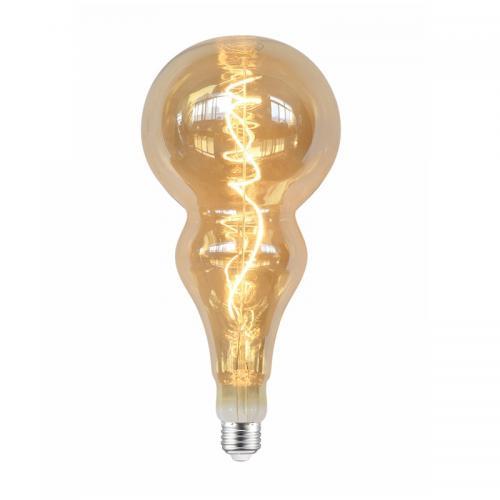 ACA LIGHTING - LED крушка димираща кехлибар IDRIS FILAMENT E27 5W 2700K 330lm IDRIS5SWWDIMAM