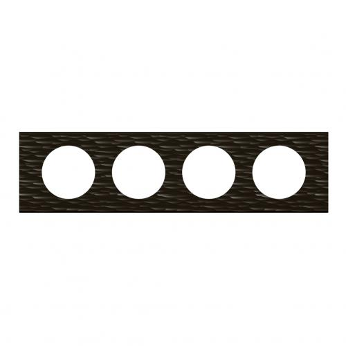 LEGRAND - Четворна рамка Celiane 69024 черен corian