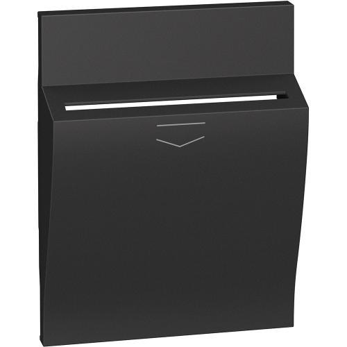 BTICINO - Лицев панел за ключ карта K4549, 3 модула цвят Черен Living Now KG22