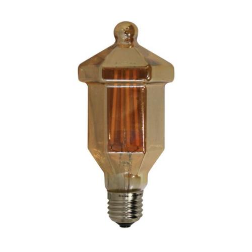 ACA LIGHTING - LED крушка димираща кехлибар LATERN FILAMENT E27 4W 2700K 390lm LAT4WWDIMAM
