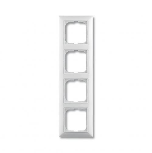 ABB - Рамка четворна ABB Basic55 Бяло 1725-0-1482 хоризонтална и вертикална