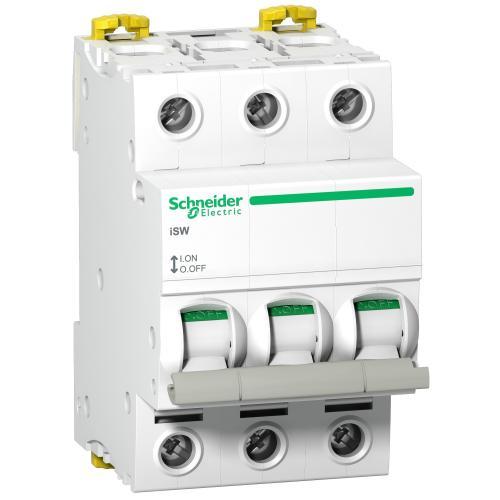 SCHNEIDER ELECTRIC - Товаров прекъсвач /шалтер/ Acti 9 iSW 3P 63A 415V 3 мод. A9S65363